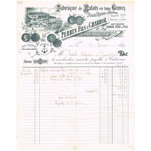FACTURE  1897 FABRIQUE DE BALAIS EN TOUS GENRES CADEROUSSE