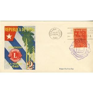 lion-club-timbre-et-obliteration-1er-jour-de-cuba-1940