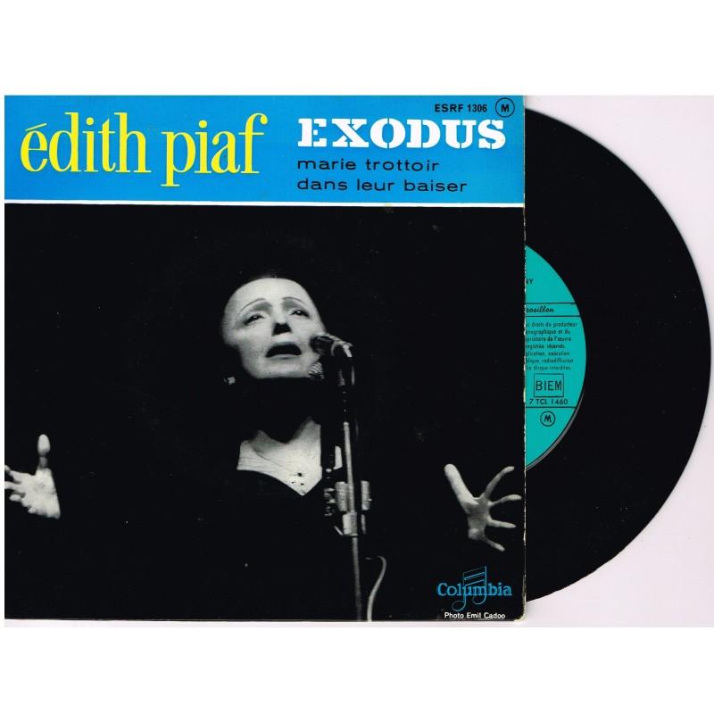 DISQUE 45 TOURS BIEM 17 cm LP EDITH PIAF - EXODUS