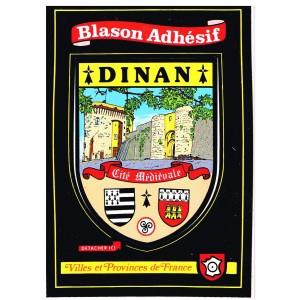 CARTE POSTALE BLASON ADHESIF - DINAN