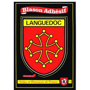 CARTE POSTALE BLASON ADHESIF - LANGUEDOC