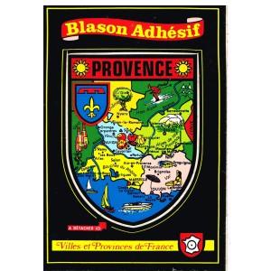 CARTE POSTALE BLASON ADHESIF - PROVENCE