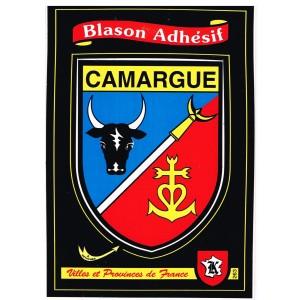 CARTE POSTALE BLASON ADHESIF - CAMARGUE