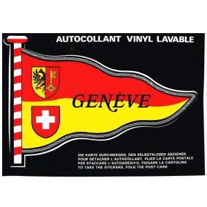 CARTE POSTALE AUTOCOLLANT VINYL LAVABLE - GENEVE