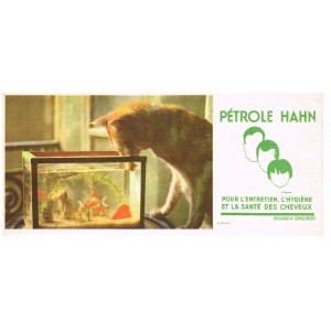 BUVARD PETROLE HAHN - CHAT ET POISSONS ROUGES