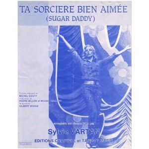 PARTITION DE SYLVIE VARTAN - TA SORCIERE BIEN AIMEE