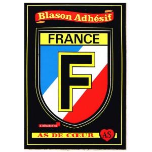 CARTE POSTALE BLASON ADHESIF - FRANCE