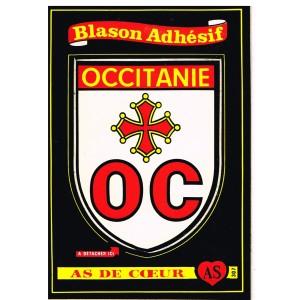 CARTE POSTALE BLASON ADHESIF - OCCITANIE - OC