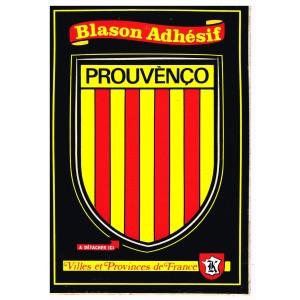 CARTE POSTALE BLASON ADHESIF - PROUVENCO