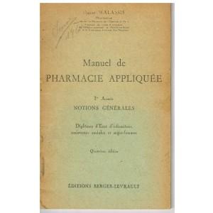 FASCICULE - MANUEL DE PHARMACIE APPLIQUEE