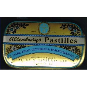 BOITE EN METAL DE PASTILLES ALLENBURYS