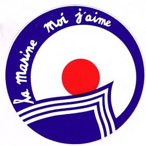 AUTOCOLLANT LA MARINE MOI J'AIME