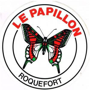 AUTOCOLLANT LE PAPILLON - ROQUEFORT