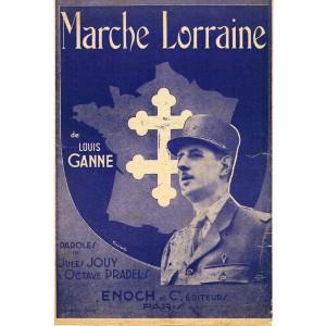 PARTITION - MARCHE LORRAINE DE LOUIS GANNE