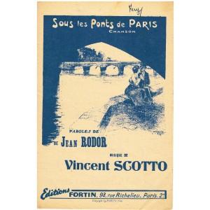PARTITION - SOUS LES PONTS DE PARIS - CHANSON