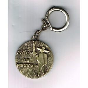 PORTE CLES METAL CHIEN SETTER IRLANDAIS ET CAFE LE MEXICAIN  - N° 1