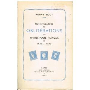 LIVRE - NOMENCLATURE DES OBLITERATIONS DES TIMBRES-POSTE FRANCAIS DE 1849 à 1876