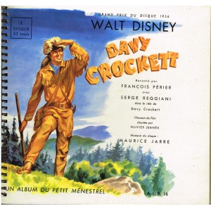 LIVRE DISQUE WALT DISNEY  - DAVY CROCKET