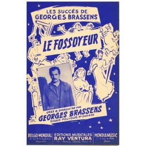 PARTITION DE GEORGES  BRASSENS - LE FOSSOYEUR