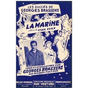 PARTITION de Georges BRASSENS - LA MARINE