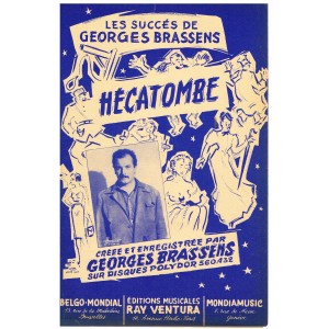 PARTITION de Georges BRASSENS - HECATOMBE