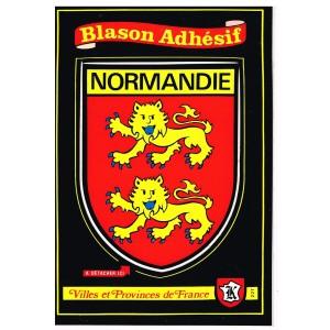 CARTE POSTALE BLASON ADHESIF - NORMANDIE