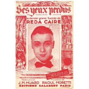 PARTITION DE REDA CAIRE - SES YEUX PERDUS