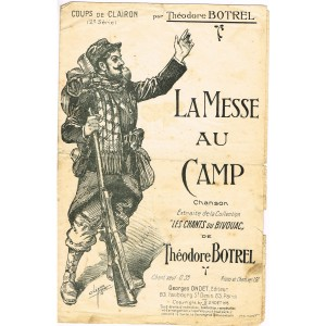 PARTITION - LA MESSE AU CAMP - Théodore BOTREL