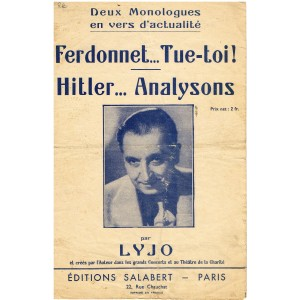 PARTITION DE LYJO - FERDONNET... TUE-TOI ! - HITLER... ANALYSONS