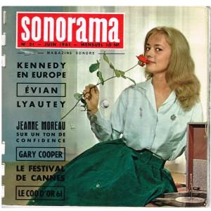 MAGAZINE SONORE SONORAMA N° 31 - JUIN 1961 - JEANNE MOREAU