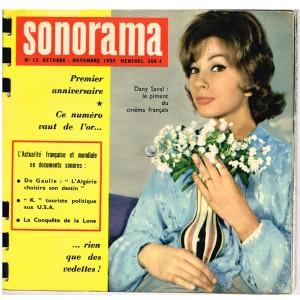 MAGAZINE SONORE SONORAMA N° 12 - OCTOBRE-NOVEMBRE 1959 - DANY SAVAL