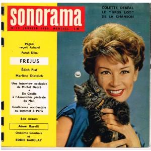 MAGAZINE SONORE SONORAMA N° 15 - JANVIER 1960 - COLETTE DEREAL