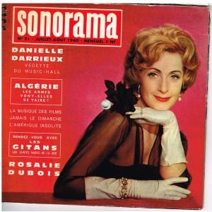 MAGAZINE SONORE SONORAMA N° 21 - JUILLET-AOÛT 1960 - DANIELLE DARRIEUX