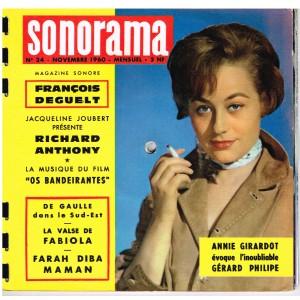 MAGAZINE SONORE SONORAMA N° 24 - NOVEMBRE 1960 - ANNIE GIRARDOT
