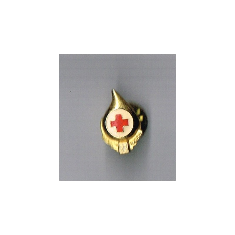 PIN'S CROIX ROUGE - GOUTTE DE SANG - GALLON DONOR - 23.
