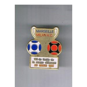 PIN'S DE MARSEILLE - MILAN A.C.