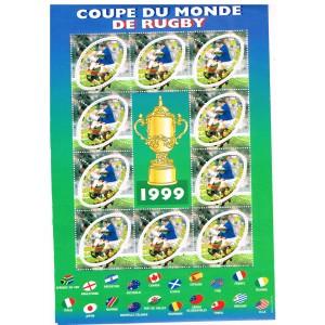 BLOC N° 26 COUPE DU MONDE DE RUGBY - 1999