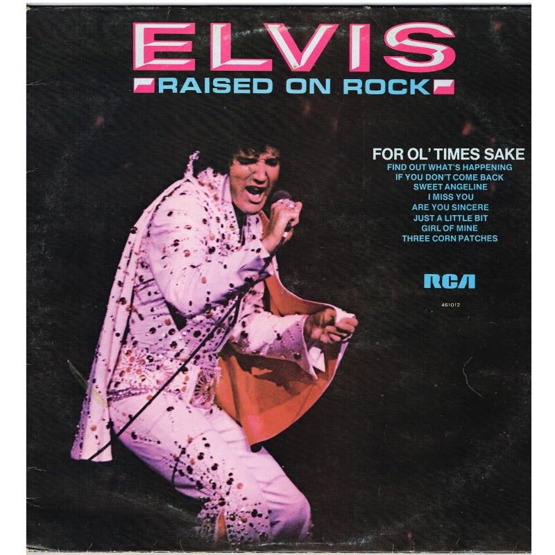 DISQUE 33 TOURS - ELVIS PRESLEY- ELVIS - RAISED ON ROCK