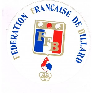 AUTOCOLLANT BILLARD - FEDERATION FRANCAISE DE BILLARD