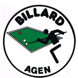 AUTOCOLLANT BILLARD - BILLARD AGEN