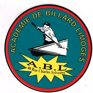 AUTOCOLLANT BILLARD - ACADEMIE DE BILLARD LIMOGES