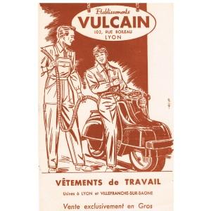 BUVARD VETEMENTS DE TRAVAIL VULCAIN AVEC SCOOTER