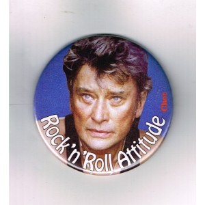 EPINGLETTE BROCHE JOHNNY HALLYDAY ROCK'N'ROLL ATTITUDE