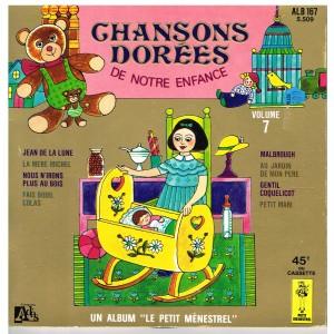 LIVRE-DISQUE 45 TOURS CHANSONS DOREES DE NOTRE ENFANCE - VOLUME 7