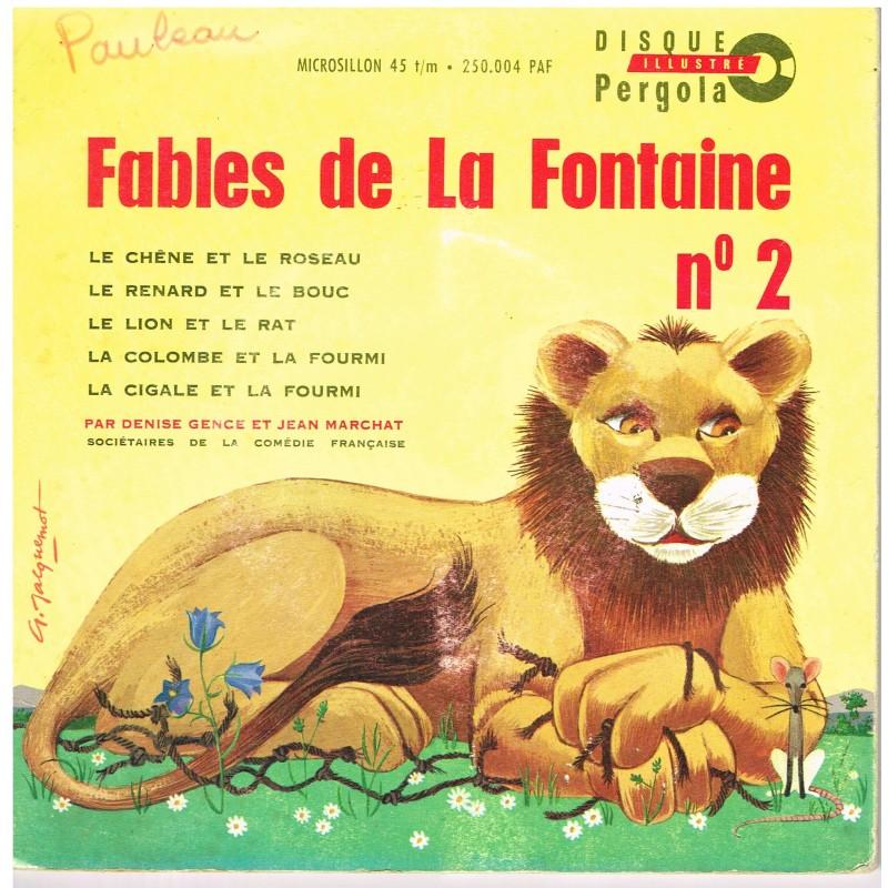 DISQUE 45 TOURS 17 cm - FABLES DE LA FONTAINE N° 2