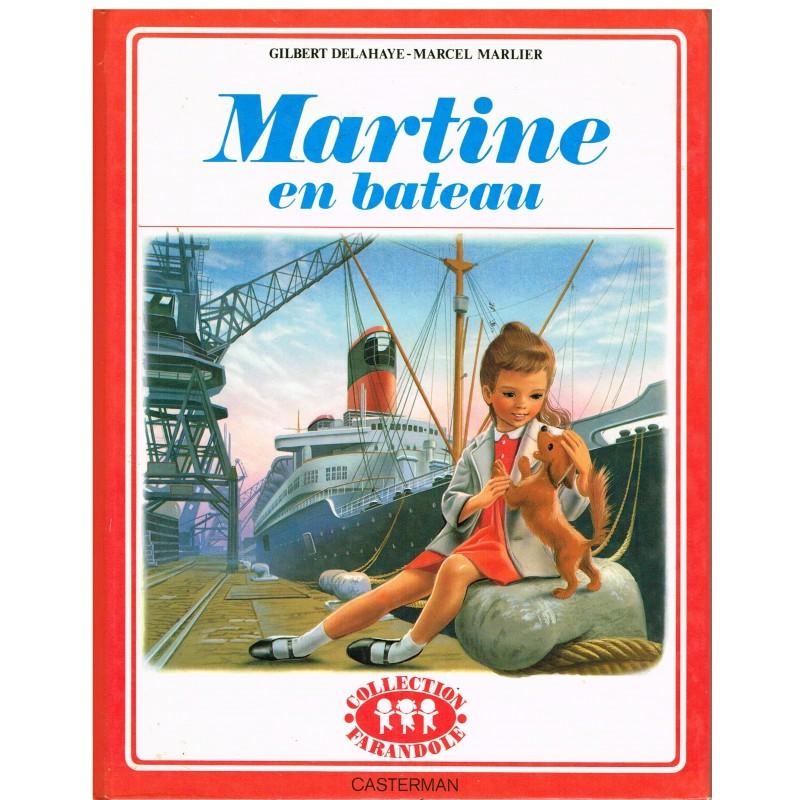 LIVRE : MARTINE EN BATEAU - BORDURE ROUGE