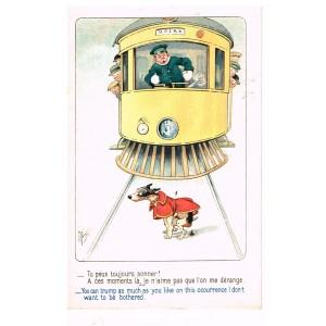 "CARTE POSTALE MICH - ""A TRAVERS L'HUMOUR"" N° 7027"