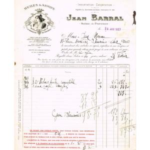 FACTURE HUILES & SAVONS JEAN BARRAL - SALON DE PROVENCE (13)