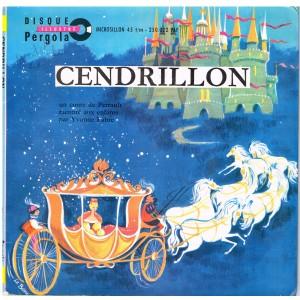 LIVRE-DISQUE 45 TOURS CENDRILLON - UN CONTE DE  PERRAULT