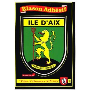 CARTE POSTALE BLASON ADHESIF - ILE D'AIX
